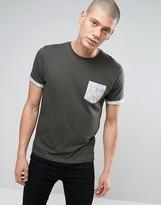 Brave Soul Paisley Pocket Print T-Shirt