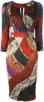 Just Cavalli snakeskin print dress - women - Spandex/Elastane/Viscose - 40
