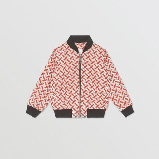 Burberry Monogram Print Nylon Bomber Jacket