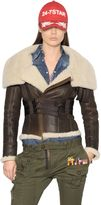 DSQUARED2 Lambskin Shearling Aviator Jacket