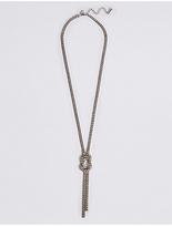 M&S Collection Trapped Diamanté Knot Necklace