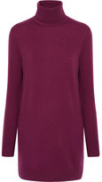 Equipment Oscar Cashmere Turtleneck Mini Dress - Plum