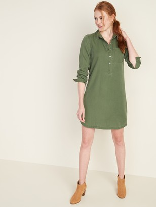 Old Navy Tencel Chest-Pocket Shirt Dress for Women