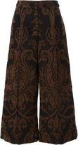 Simone Rocha floral jacquard culottes