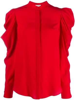 Alexander McQueen gathered detailed shirt