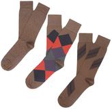 Etiquette Clothiers Shanghai, Harlequin and Ball Point Mercerized Socks (3 PK)