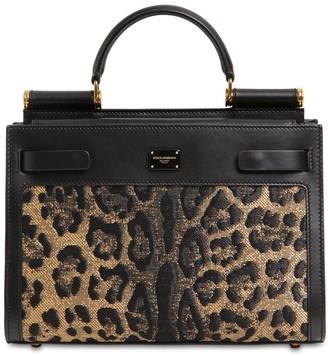 Dolce & Gabbana SICILY 62 LEO JACQUARD TOP HANDLE BAG