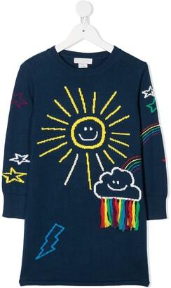 Stella McCartney Kids Weather Embroidery Dress