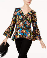 INC International Concepts V-Neck Floral Blouse, Created for Macy's