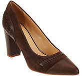 C. Wonder As Is Leather & Suede Pumps with Woven Detail-Beatrice
