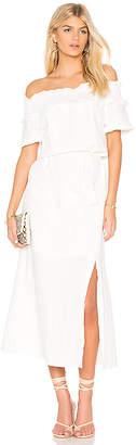 Line & Dot Peony Off Shoulder Dress