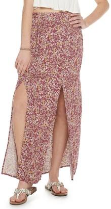 So Juniors' Double Slit Maxi Skirt