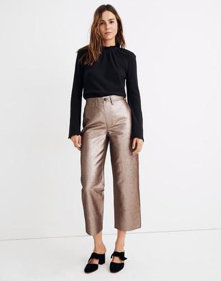 Madewell Slim Emmett Wide-Leg Crop Pants in Metallic