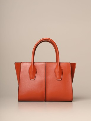 Tod's Tods Tote Bags Tods Shopping Bag In Leather With Shoulder Strap