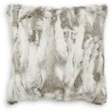 Adrienne Landau Rabbit Fur Throw Pillow