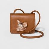 Mossimo Women's Fox Icon Micro Crossbody Bag Cognac