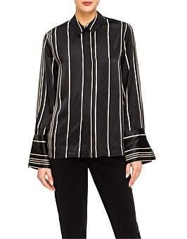 Co Striped Charmeuse Shirt