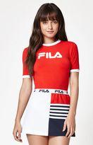 Fila Tionne Cropped Ringer T-Shirt