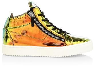 Giuseppe Zanotti Flik Iridescent Mid-Top Sneakers