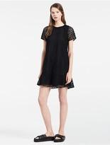 Calvin Klein Platinum Geo Circular Lace Combo Dress