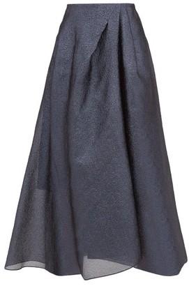 Roland Mouret Mulligan Lame-cloque Midi Skirt - Blue Multi