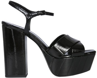Saint Laurent Farrah Strap Platform Sandals