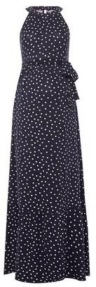 Dorothy Perkins Womens Dp Maternity Navy Spot Print Maxi Dress