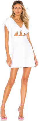 Susana Monaco Bow Front Dolman Mini Dress