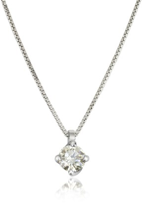 Forzieri 0.23 ctw Diamond Flower Pendant 18K White Gold Necklace