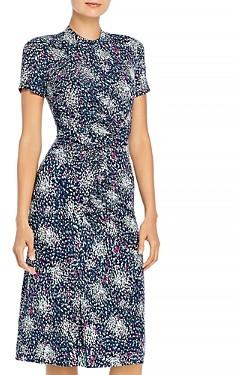 HUGO BOSS Enice Printed Jersey Dress