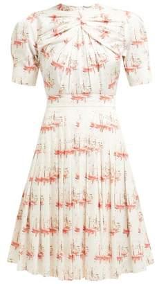 Emilia Wickstead Minerva Sailboat Print Pleated Dress - Womens - Pink Print