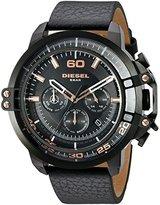Diesel Men's DZ4409 Deadeye Black Ip Black Leather Watch