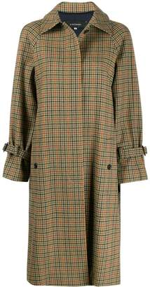 J&M Davidson tweed-check trench coat