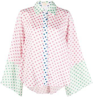 Sara Battaglia Polka Print Shirt