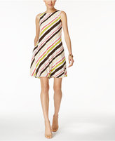 Nine West Striped A-Line Dress
