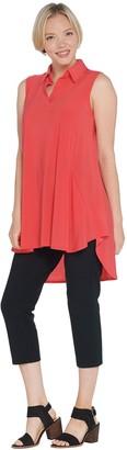 Women With Control Regular Sleeveless Como Tunic & Crop Pants Set