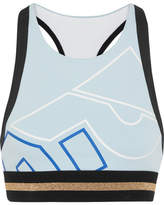 P.E Nation The Volley Printed Stretch-jersey Sports Bra