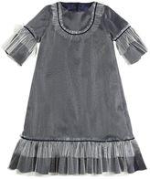 La Stupenderia Stretch Tulle & Viscose Twill Long Dress