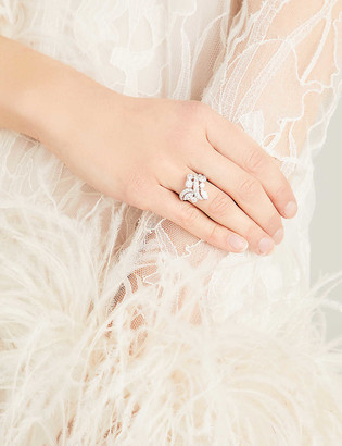 De Beers Adonis Rose platinum and diamond ring