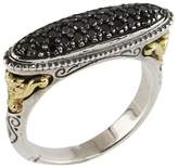 Konstantino Women's Asteri Elliptical Pavé Black Diamond, 18K Yellow Gold and Sterling Silver Ring