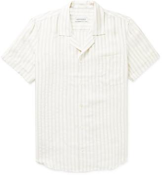 Dune Camp-Collar Striped Woven Shirt