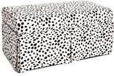 Skyline Furniture Hayworth 38 Skirted Storage Bench, Dots
