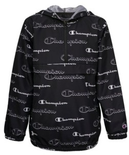 Champion Aop Shadow Script Windbreaker Big Boys Hoodie