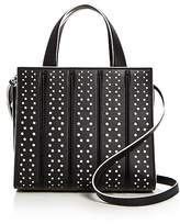 Max Mara Small Whitney Perforated Leather Satchel