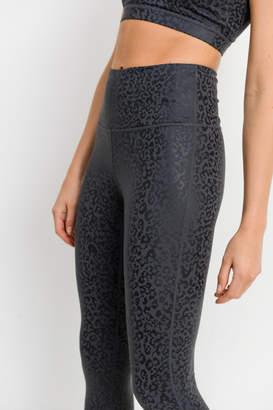 Mono B Leopard Foil Print High Waist Leggings