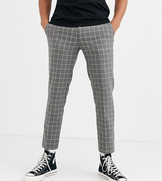 Heart N Dagger skinny fit suit trouser in grey grid check