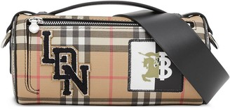 Burberry Vintage Check E-canvas and leather mini bag