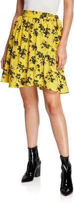 MICHAEL Michael Kors Botanical Floral-Print Wrap Skirt
