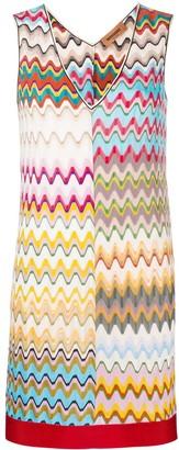 Missoni Wave Pattern Fitted Mini Dress