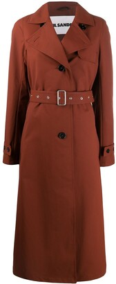 Jil Sander Single-Breasted Trench Coat